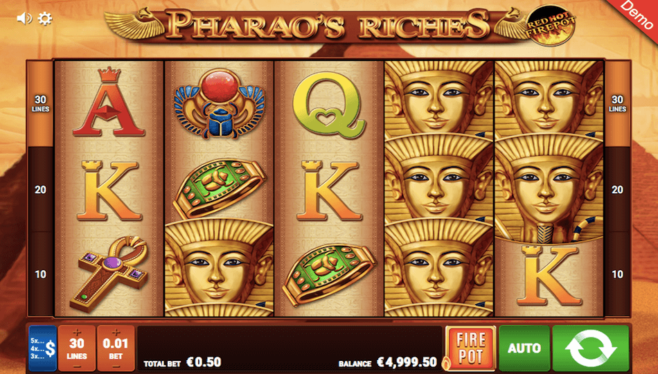 Pharaos Riches Red Hot